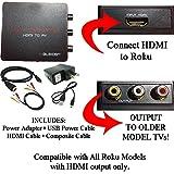 HDMI to 3RCA Composite AV Converter for Roku 2, Roku 3 and Roku 4