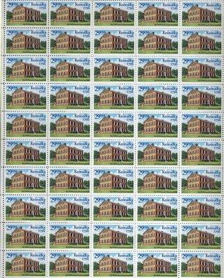 Kentucky Statehood Bicentennial Sheet 50 x 29 cent US Postage Stamp Scot #2636