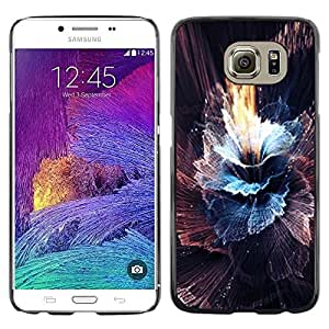 Omega Covers - Snap on Hard Back Case Cover Shell FOR Samsung Galaxy S6 - Sun Sky Black Abstract Burst Explosion