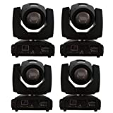 Eshine 4PCS/Lot Beam Moving Head SHARPY 5R Beam 200W stage Lighting For Wedding Christmas Birthday DJ Disco KTV Bar Event Party Show (Color: Black)