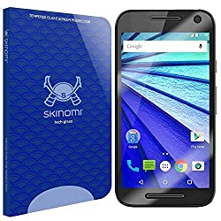 Skinomi Tech Glass - Motorola Moto G Glass Screen Protector (3rd Gen) with Lifetime Replacement / Ultra Thin Premium Tempered Glass - Crystal Clear 9H Hardness with Oleophobic Coating and 99% Clarity