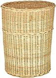 Agus Cane Wire Laundry Basket (24 cm x 24 cm x 30 cm, Beige)