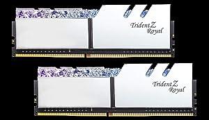 G.Skill 32GB DDR4 Trident Z Royal Silver 4000Mhz PC4-32000 CL19 1.35V Dual Channel Kit (2x16GB) (Tamaño: 32 Gb)