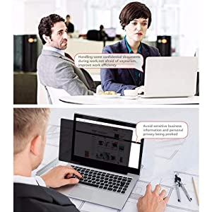 ZOEGAA MacBook Pro 13 Privacy Screen?Webcam Cover??TPU Keyboard Cover? Anti-spy&Anti-Glare Film Compatible New 2018 MacBook Air 13 (A1932), MacBook Pro 13 (A1706 A1708) (Color: black, Tamaño: macbook air 13 inch)