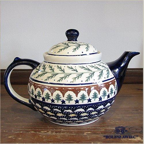 Болеславец / boleswavietz керамики чайник (1,25 Л) - 176 - польская керамика
