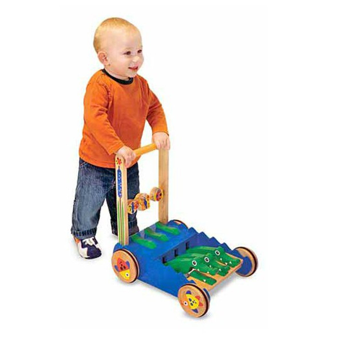 Push And Pull Toys : Push toy wooden pull toys toddler melissa doug baby walker
