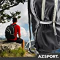 AZSPORT Foldable Backpack, Best for Camping and Traveling, Lightweight, Black
