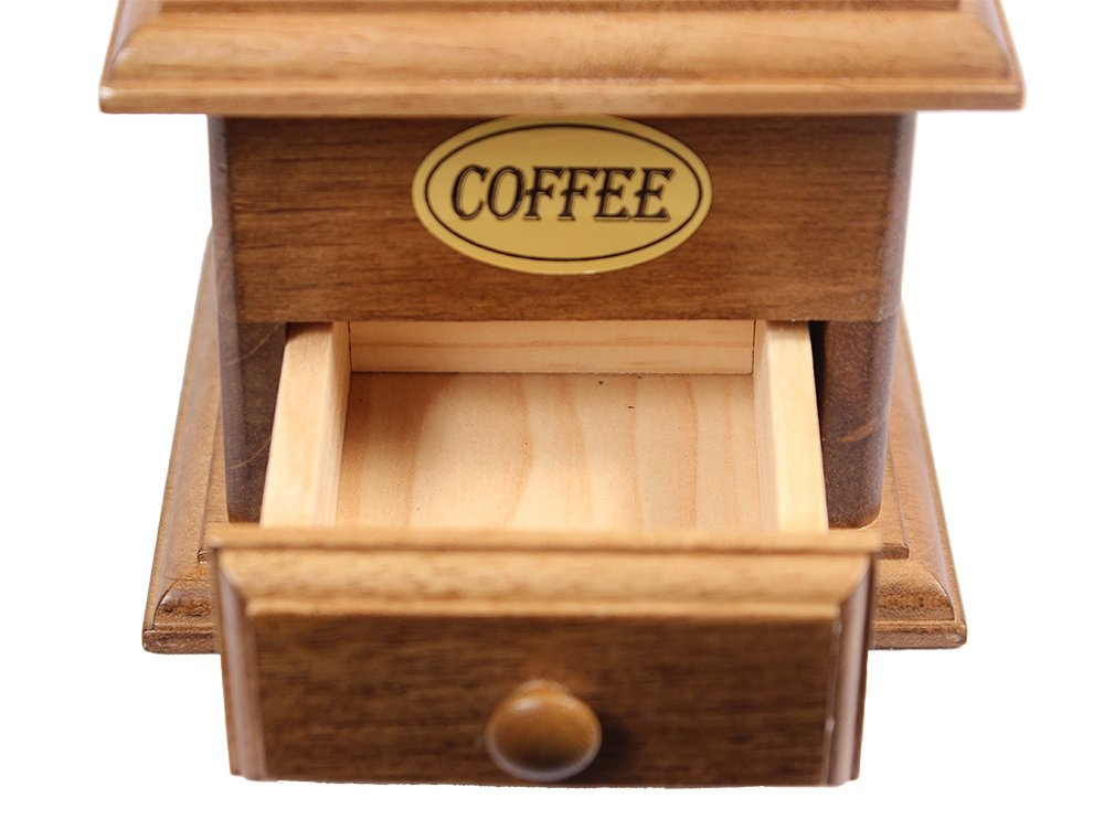 Manual Cast Iron Coffee Bean Grinder with Drawer 1