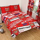 Arsenal Official Double Duvet Cover Set Patch Red