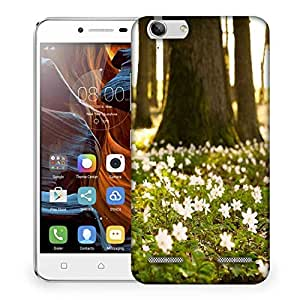 Snoogg Small White Flowers Designer Protective Phone Back Case Cover For Lenovo K5 Vibe