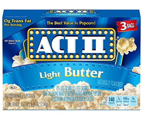Act II Popcorn, Light Butter, 3 Count (Pack of 12) (Light Butter Popcorn compare prices)