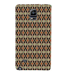 Abstact Square Pattern 3D Hard Polycarbonate Designer Back Case Cover for Samsung Galaxy Note 4 N910 :: Samsung Galaxy Note 4 Duos N9100