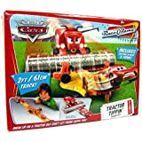 Disney Cars Tractor Tippin Playset Includes Plastic (Not Diecast) Frank the Combine & Lightning McQueen Mattel