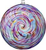 Kitras Hanging Spiral Sun Disc Glass Ornament, Classic/Multi
