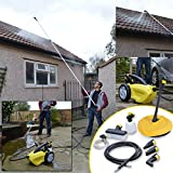 Wolf Sky Blaster 1500 Watt, 240v Pressure Power Washer with Telescopic Lance and Patio Cleaner - Clean Conservatory Roof, Van, Caravan, Gutter, High Windows and Other Hard to Reach Areas as Well as Car, Drive, Garden Furniture, Path, Bikes and More