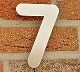 Hausnummer Nr. 7 - Edelstahl gebürstet - 15 cm - witterungsbeständig - einfache Montage