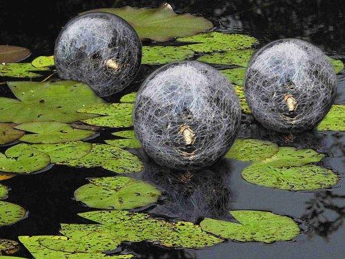 Set di 4 sfere galleggianti decorative a led multicolori - Sfere illuminazione giardino ...