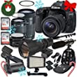 Canon EOS 80D Digital SLR Camera with Canon EF-S 18-55mm f/3.5-5.6 IS STM Lens + Canon EF-S 55-250mm f/4-5.6 IS STM Lens + Canon EF 50mm f/1.8 STM Lens + 500mm Lens