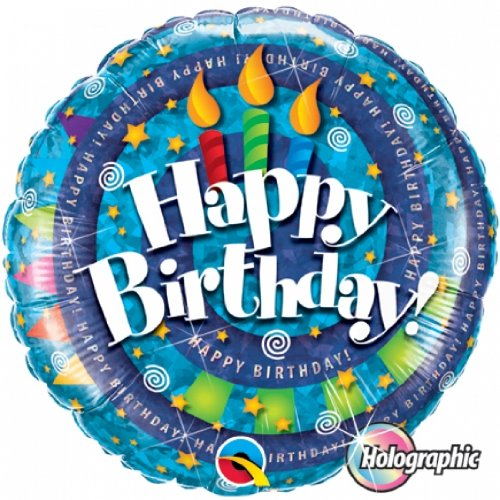 "PIONEER BALLOON COMPANY B'day Spiral and Candle Pack, 18"", Multicolor - 1"