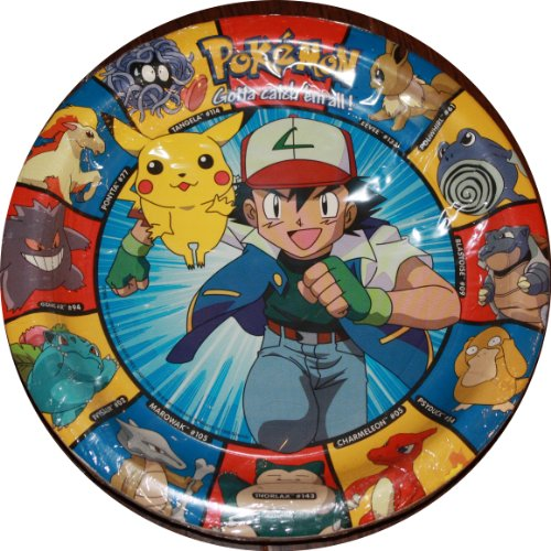 Designware Pokemon Dinner Plates 8 Pack - 9 Inches Pikachu and Ash - - 1