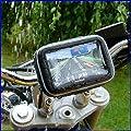 GPSB004 GPS SAT NAV Waterproof Leather Case w/ Mount Holder Motorcycle Motorbike Cycle