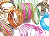 Beachcombers! Build A Bangle Collection Make Your Own Bangle Set Ethnic Glass Indian Bangles Belly Dance BoHo Chic Bracelets