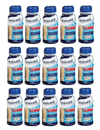 Ensure Vanilla Plus Nutrition Shake 350 Calories, Protein, Vitamins And Minerals - 15 Pack Of 8 Oz