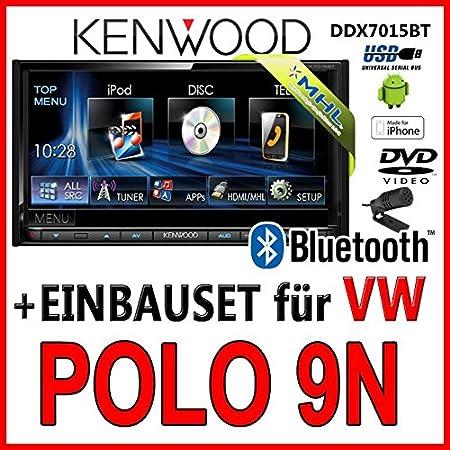 Volkswagen polo 9N kenwood-dDX7015BT 2DIN multimédia avec bluetooth uSB mHL