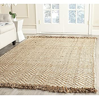 Safavieh Natural Fiber Collection NF458A Hand Woven Bleach and Natural Jute Area Rug (4 x 6)