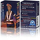 Running Belt + Reflective Running Vest + Reflective Running Gear. High Visibility Vest for Running, Cycling, Motorcycling, Walking the Dog or any Outdoor Activity Men, Women & Kids!