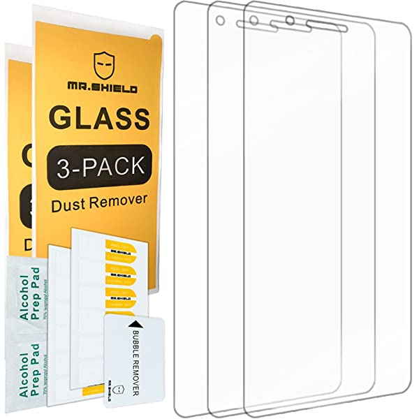 [3-Pack]- Mr.Shield for Huawei P9 Lite [Tempered Glass] Screen Protector [0.3mm Ultra Thin 9H Hardness 2.5D Round Edge] with Lifetime Replacement Warranty
