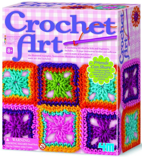 Details about NEW 4M Crochet Art Kit Girls Color Patterns Activities ...