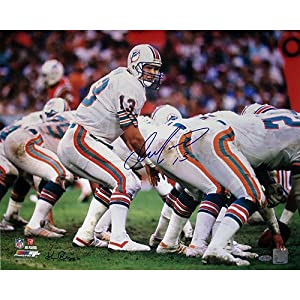 Dan Marino Miami Dolphins Home Jersey At The Line Of Scrimmage Horizontal 16x20 Photo... by Steiner Sports
