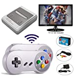 Huongoo Classic Mini Family Game Consoles, Retro Game Console Built-in 557 TV Video Game with Wireless Dual Controllers, Entertainment System. (JY02)