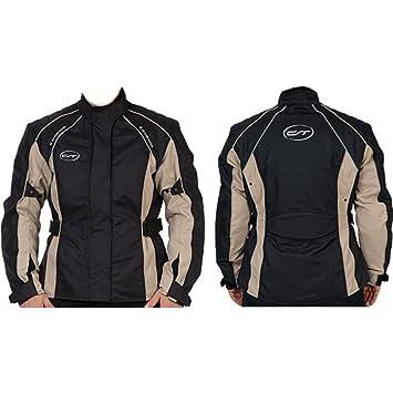 Veste de moto pour femme cT «madeira» taille 38 (noir/beige taille cintrée coupe pour femme-coupe-vent et imperméable-protections