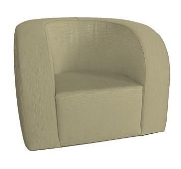 Arketicom Luna, Confortable Fauteuil Contemporain Baby Tapisse' a la main en coton melange' Couleur Beige Mesures cm 40x40x50