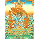 Six-Armed Winged Vajrakumara (Vajrakila) in Yab Yum - Tibetan Thangka Painting