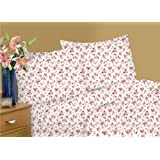 Textiles Plus T-Shirt Knit Jersey Bedding Sheet, Queen, Romance
