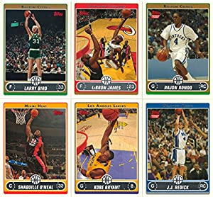 2006 2007 Topps NBA Basketball Series Complete Mint 265 Card Set with Larry Bird LeBron James Kobe Bryant Rajon Rondo Rookie M (Mint)