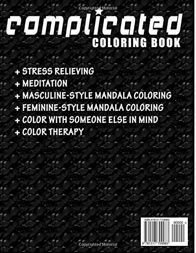 COMPLICATED COLORING BOOKS - Vol.4: complicated coloring books: Volume 4