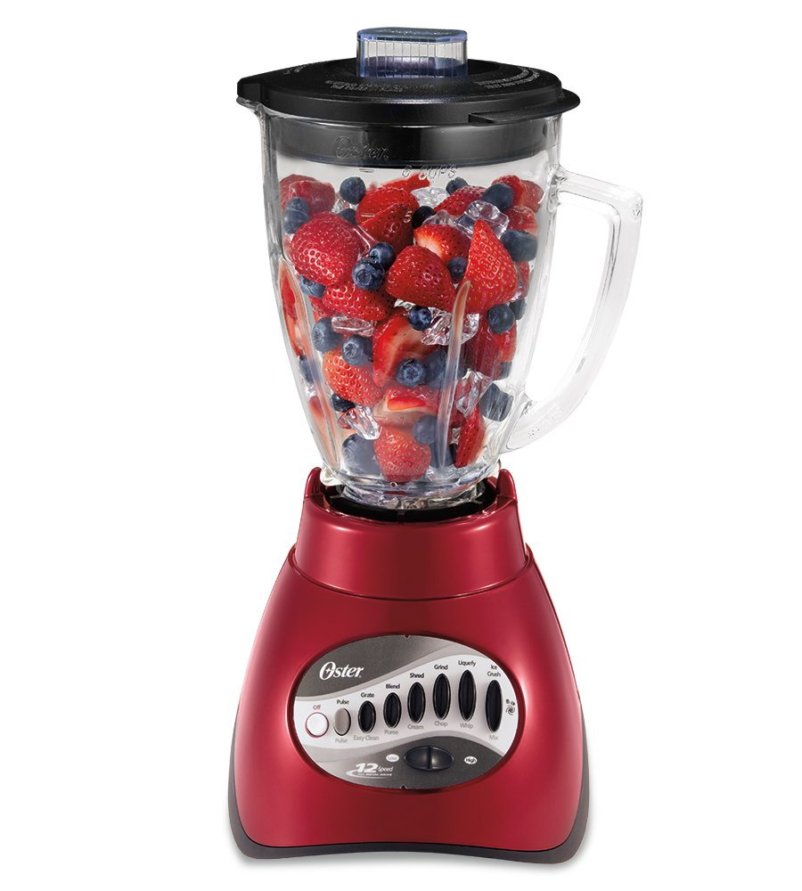 Red Oster 12 Speed Blender
