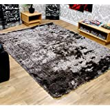 Soft Touch Shaggy Shag Pile Modern Contemporary Quality Shaggy Rugs - Lime Green, Grey Silver, Bright Red, Blue...