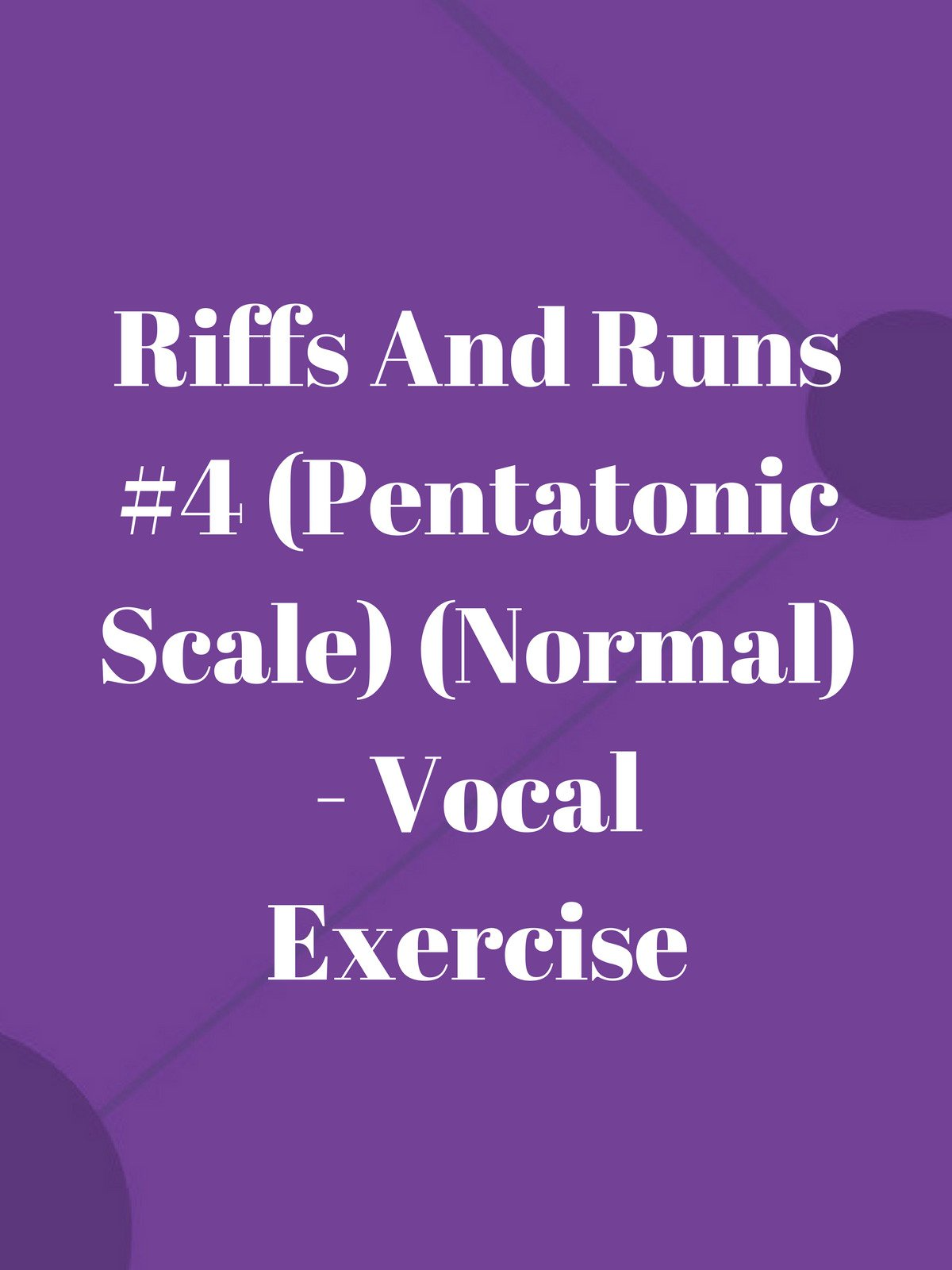 Riffs And Runs #4 (Pentatonic Scale) (Normal)