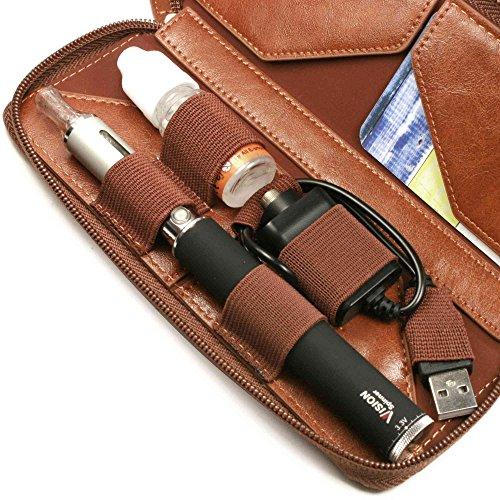 Tuff-Luv-Vintage-Faux-Leather-Luxury-Travel-case-refill-holder-for-E-Cig-Vape-Pen-Brown