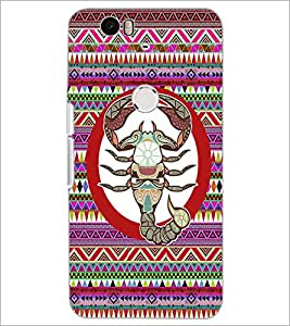 PrintDhaba Zodiac Cancer D-5846 Back Case Cover for HUAWEI NEXUS 6P (Multi-Coloured)