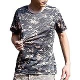 (ガンフリーク) GUN FREAK 迷彩柄 半袖 Tシャツ タクティカル ストレッチ メッシュ サバゲー ( ACU 迷彩 , 3XL )