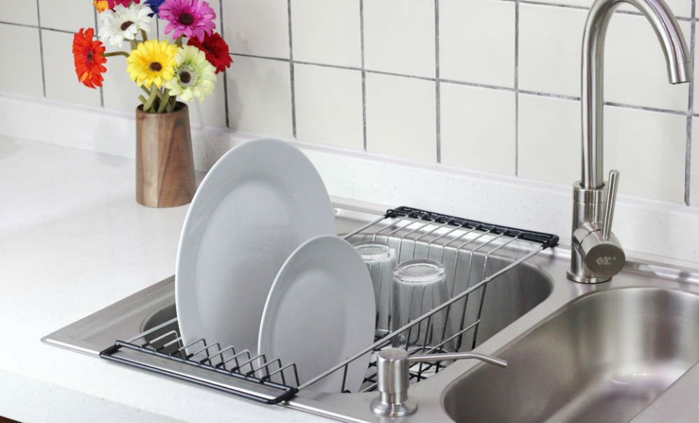 Over Sink Dish Drying Rack Genius Style Of Over The Sink