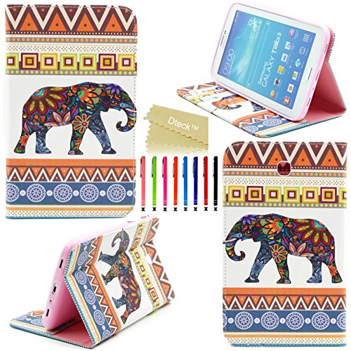 Tab 3 7.0 Case, Model P3200 P3210 T210 T211 Case, Dteck(TM) Stylish Portable Protective Slim Flip Folio PU Leather Stand Case Cover for Samsung Galaxy Tab 3 7.0 inch Tablet (#01 Baby Elephant)