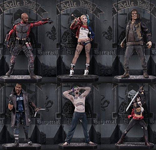 [Suicide Squad: Harley Quinn, Joker, Deadshot, Boomerang, Killer Croc, Katana 12-inch Figures Set of] (Katana Dc Costume)