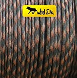 550 Paracord Type III Commercial 7 Strand 100ft Woodland Camo